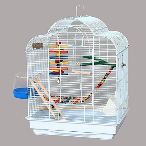 """Kit de Inicio de Jaula de Pájaros de Metal para Interiores de 23 """"con Cubierta Antipolvo, Jaula de Loros con Caja de Cría, Cesta de Almacenamiento de Jaula de Pájaros para Loros Pequeños y Accesorio"""