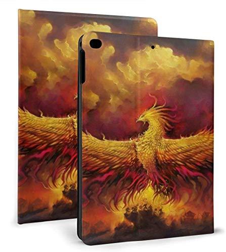 Fire Phoenix Bird PU Leather Smart Case Auto Sleep/Wake Feature for iPad Air 1/2 9.7' Case