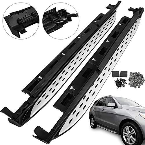 Mophorn Barras Laterales de Aluminio para Barras Laterales Barras de Aluminio para Clase de GLE y Clase de ML