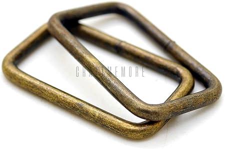 8PCS Silver Rectangular Wire Loops,32MM Rectangle Rings Square Rings,wire rings,bag rings,Webbing Purse Handbag Bag Making Hardware Handbag