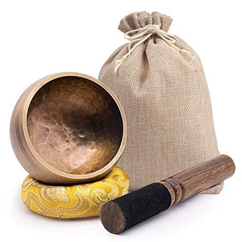 DomeStar Tibetan Singing Bowl Set, 2.8 Inch Sound...