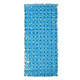 DomoWin Alfombra Antideslizante de Baño, Alfombra para Bañera Antideslizante Alfombrilla de Baño con 167 Potentes Ventosas para Cuarto de Baño 88 x 40 CM (Azul, 167 Ventosas)