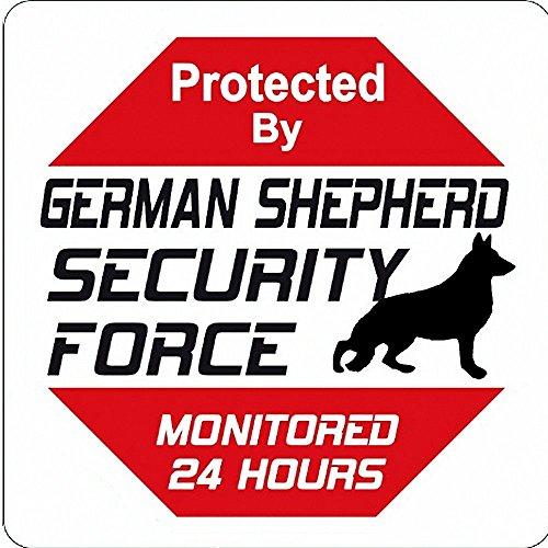 Lionkin8 Deutscher Schäferhund Yard Zeichen Sicherheit Force Deutscher Schäferhund Metall Schild/Plakette–30,5x 30,5cm