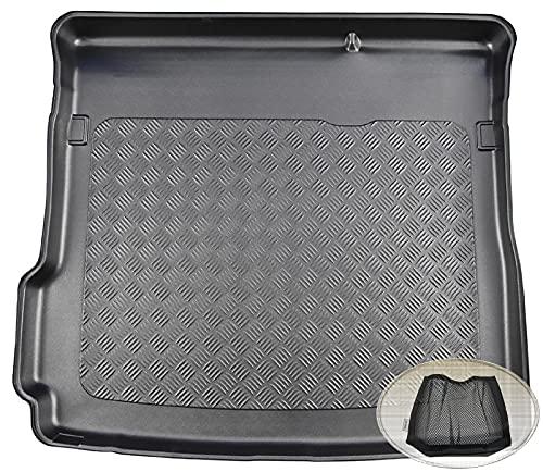 ZentimeX Z3354605 Geriffelte Kofferraumwanne fahrzeugspezifisch + Klett-Organizer (Laderaumwanne, Kofferraummatte)