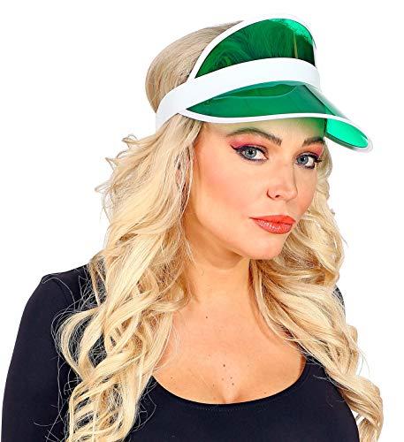 shoperama 80er Jahre Sonnenvisir Poker Beach Party Sonnen-Hut Sonnen-Kappe Kostüm-Zubehör JGA, Farbe:Grün