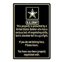 米国軍ティンサインの装飾ヴィンテージ壁金属プラークレトロ鉄絵カフェバー映画ギフト結婚式誕生日警告