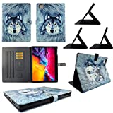 wirlesspulse TPU Shell Case for iPad Pro 12.9 20202019 Snow Wolf Slim PU Leather Folding Stand Cover with Auto WakeSleep for 12.9 Inch