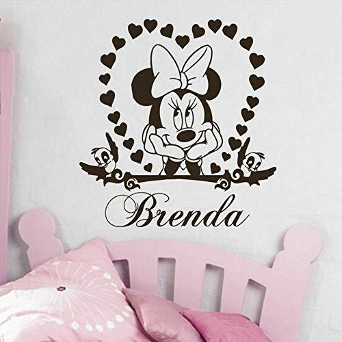 Animal de dibujos animados ratón creativo etiqueta de la pared amor en forma de corazón pájaro vivero niña dormitorio artista decoración del hogar vinilo etiqueta de la ventana