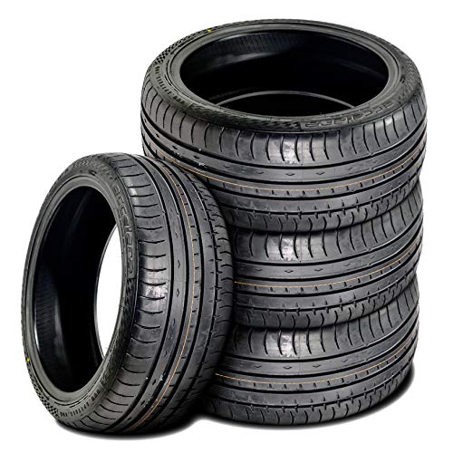 Set of 4 (FOUR) Accelera Phi All-Season High Performance Radial Tires-245/45R17 245/45ZR17 245/45/17 245/45-17 99W Load Range XL 4-Ply BSW Black Side Wall