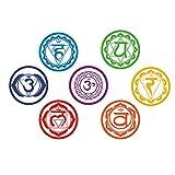 artaslf 7pcs / set Chakras Vinyl Wall Stickers Mandala Yoga Meditation Symbol Tatuajes de pared para el hogar Sala de estar/Yoga Studio Decoration