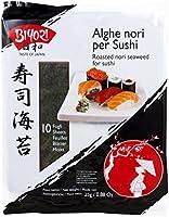 Biyori Alghe Nori per Sushi - 1 confezione da 10 fogli [25 gr]