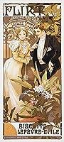 絵画風 壁紙ポスター (はがせるシール式) アルフォンス・ミュシャ 浮気女 1899年 アールヌーヴォー キャラクロ K-MCH-068S2 (291mm×646mm) 建築用壁紙+耐候性塗料