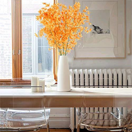 NAHUAA 4Pcs Künstliche Blumen Orange Deko Kunstblumen Rot Pfingstrose Plastikblumen Künstlich Dekoblumen Unechte Blumen Kunstpflanzen für Hochzeit Balkon Garten Topf Vase Dekoration - 3