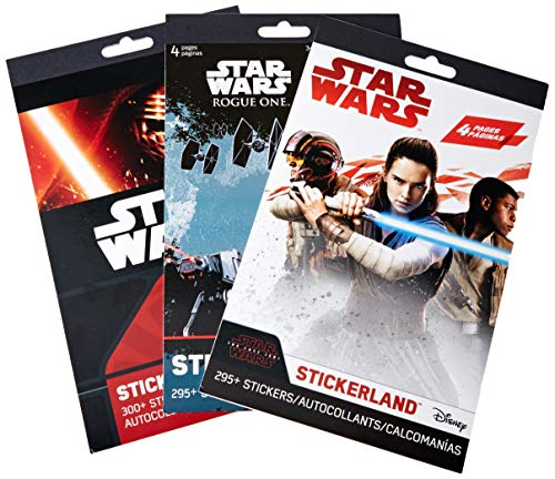 Star Wars Stickers Variety Pack: 900+ Stickers Featuring Your Favorite Star Wars Characters - 12 Sticker Sheets Perfect for Star Wars Party Favors