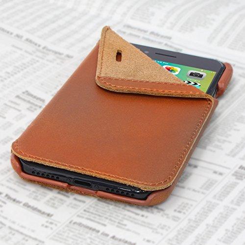 Opis Mobile 7/8 Garde Book: Klapphülle für iPhone 7 und 8 in Leder in Cognac braun/Flip Cover für iPhone 7 und 8 in Leder in Cognac braun