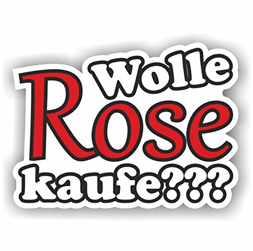 folien-zentrum 1x Wolle Rose Kaufe??? 9 x 12 cm Aufkleber Tuning 144 Shocker Auto JDM OEM Dub Decal Sticker Illest Dapper Oldschool Folie