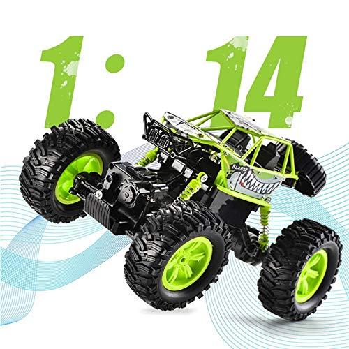 Kikioo Hobbys RC Auto mit Batterie, 4WD 2,4 GHz 1.14 Climbing Fernbedienung Auto Off-Road Radio Control Trucks Allradantrieb 25 km/h Hochgeschwindigkeitsfahrzeug-Spielzeug for Erwachsene Kinder Jung