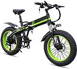 Bicicleta Eléctrica Ebikes para adultos, bicicleta eléctrica plegable MTB Dirtbike, 20 '48V 10AH 350W, biciclos de bicicletas eléctricas plegables marco de aleación ligera ajustable E-bicicleta E-bici