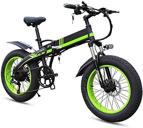 Bicicleta Eléctrica Ebikes para adultos, bicicleta eléctrica plegable MTB Dirtbike, 20