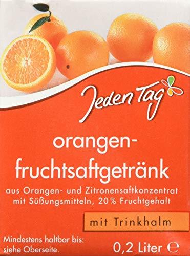 Jeden Tag Orangenfruchtsaftgetränk, 10er Pack (10 x 200ml)