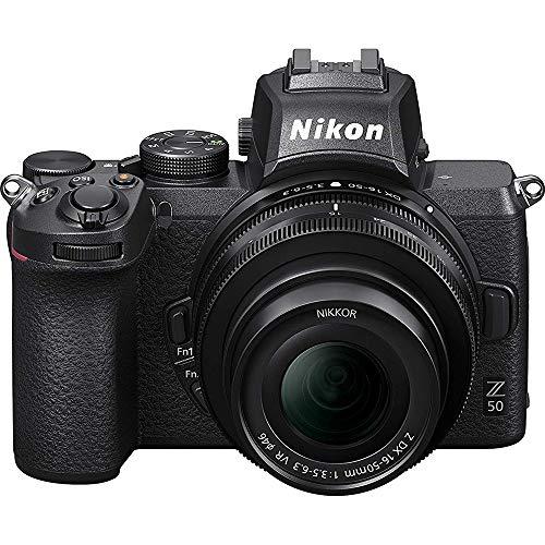 Nikon Z50 DX-Format Mirrorless Camera Body with NIKKOR Z DX 16-50mm f/3.5-6.3 VR Lens - 1633B (Renewed)