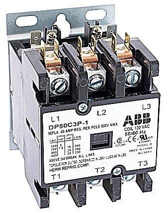 ABB, DP50C3P-2, 3 Pole, 50 Amps, 240VAC Coil, Definite Purpose Contactor