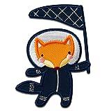 Aufnäher/Bügelbild - Space Fuchs Fahne Anzug Weltall Galaxy Weltraum- Aufbügler/Applikationen/zum aufbügeln/Applikation/Patches/Flicken