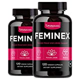 All-Natural Female Hormone Balancer – 120 Count (Pack of 2) with Maca, White Turmeric & Siberian Ginseng – Libido Enhancement Pills Made for Women | Non-GMO Herbal Mood Intimacy Booster | Made in USA