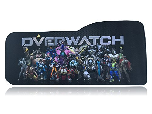 Overwatch Extended Size Custom Professional Gaming Mouse Pad - Anti Slip Rubber Base - Stitched Edges - Large Desk Mat - 28.5' x 12.75' x 0.12' (Curve, Group)