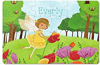 Personalized Custom Jigsaw Puzzle with Name for Kids Toddlers Girls Birthday Gift, Fairy Princess24-piece