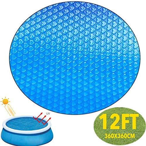 YYTFGR Solar poolabdeckung rund 360cm Solarplane Pool Wärmefolie Poolabdeckungen Schutzabdeckungen Bündel Solarabdeckungen für oberirdische Pool Inground (M)