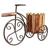 HLPIGF Jardinera de Escritorio Maceta de Jardín Suministros de Jardín Decoración de Casa Hierro Forjado Europeo Soporte de Flor de Bicicleta Maceta Artesanal