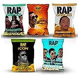 Rap Snacks potato chips variety pack-Lil Boosie, Fetty Wap, Migos, Romeo Miller, Migos Popcorn- 2.75 oz bags (Pack of 5)