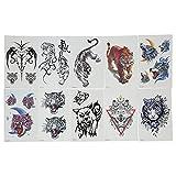 10 piezas pegatinas de tatuajes temporales a prueba de agua pegatinas de tatuaje falso de larga duración conjunto de tatuajes temporales de arte corporal colorido