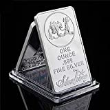 RARE USA American Prospector 1OZ 999 Value Bullion Bar US Union Silver Color Coin Collection Silver plated Souvenir Bar. NOT silver This souvenir bar is NOT for investment purposes Size: 50mm*28mm(1.97in*1.1in), Weight 28g/1oz Free shipping