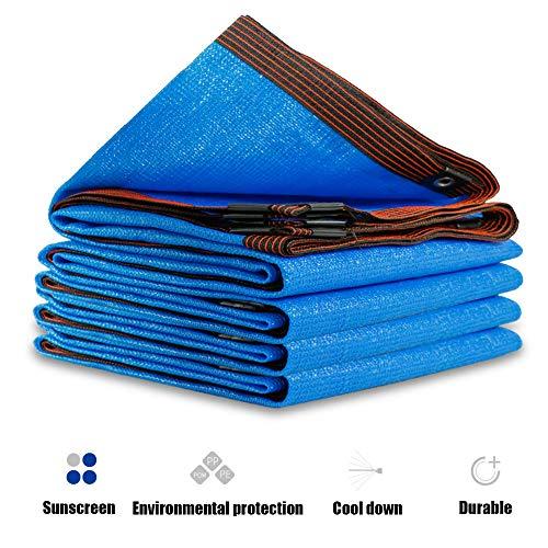 LHJJ Red De Sombra con Ojal, Toldo Azul Anti-Ultravioleta para Toldos, Utilizado para Terraza/Invernadero/Planta/Granero/Pérgola/Caseta De Perro/Piscina/Mascota