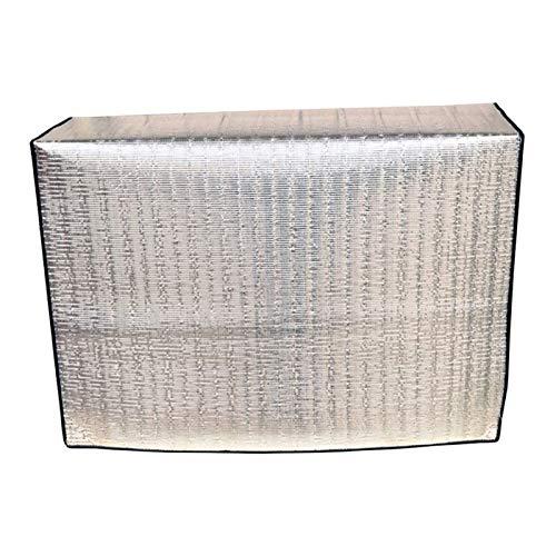 BANGSUN 1 funda protectora negra para aire acondicionado, resistente al aire libre, oficina, patio, jardín, negro, 91 x 91 cm