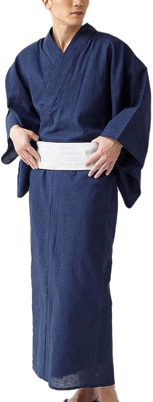 Japanese kimono pajamas bathrobe soft cotton light pajamas men's home wear