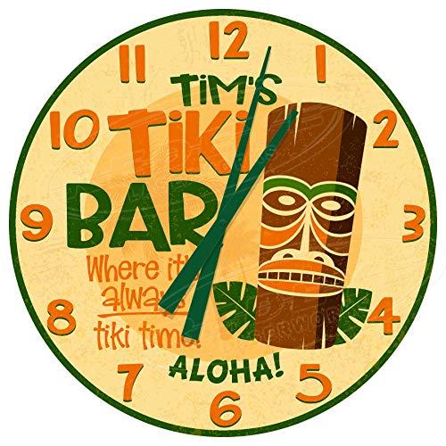 Reloj de pared personalizado Tiki Bar Idol Aloha