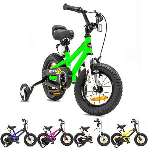 NB Parts - Bicicleta infantil para niños y niñas, BMX, a partir de 3 años, 12 pulgadas / 16 pulgadas, color verde, tamaño 12