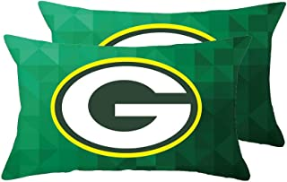 Gloral HIF Green Bay Packers Oblong Lumbar Pillow Case Cushion Cover Pack of 2 Pillowcase 12