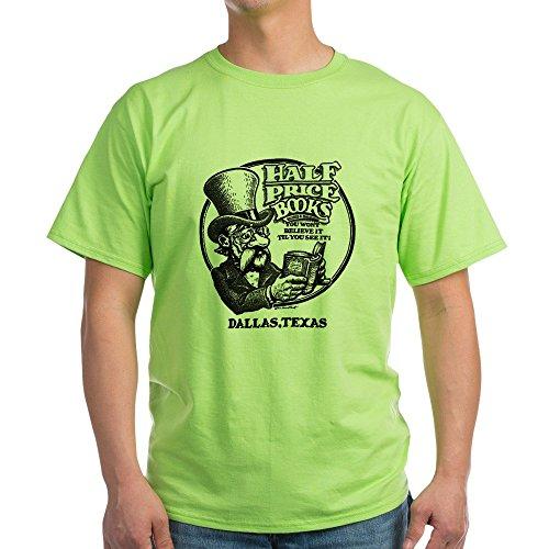 CafePress Half Price Books Light T Shirt 100% Cotton T-Shirt Green