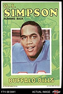 1971 Topps # 13 O.J. Simpson Buffalo Bills (Football Card) Dean's Cards 6 - EX/MT Bills