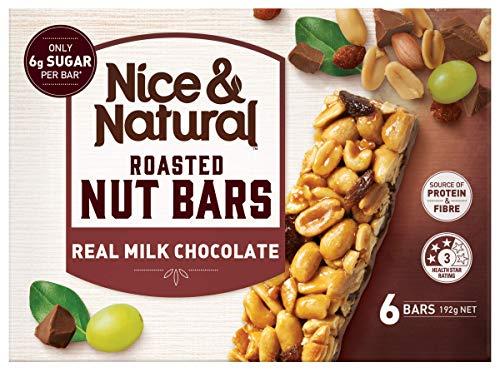 Nice & Natural Real Milk Chocolate Roasted Nut Bars, 192g