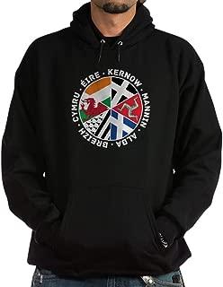 Celtic Nations Flags Black Hoodie Sweatshirt
