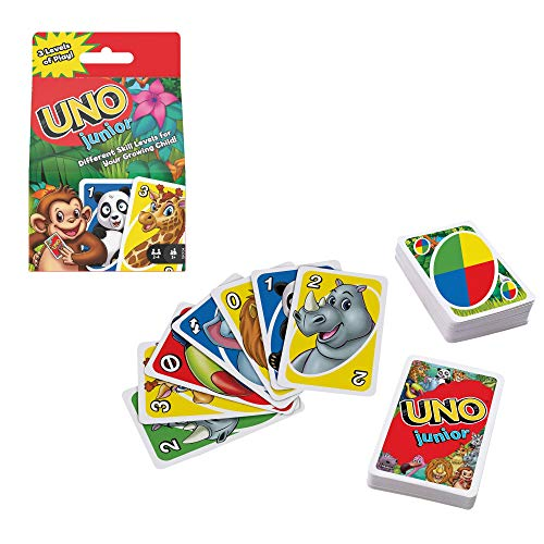 Mattel Games GKF04 - UNO Junior Kartenspiel für Kinder ab 3Jahren