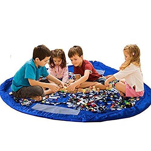 BigNoseDeer Enfants Tapis de Jeu Sac de Rangement de Jouets bébé Pliable Enfants Tapis Enfant Organisateur de Jouets 60 Pouces (150cm)