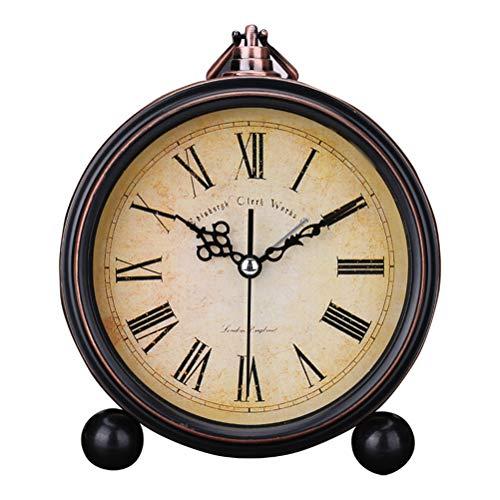 WINBST Sveglia Analogica Sveglia Silenziosa Vintage Senza Ticchettio Orologio da Tavolo Antico Orologio Sveglia Orologio da Tavolo Orologio da Tavolo per La Decorazione Domestica