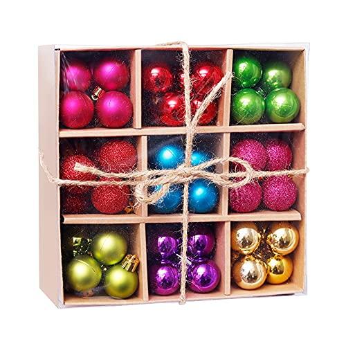 Confezione da 99 palline di natale ornamenti decorativi luminosi opachi lucidi paillettes palle albero di natale palline appese pendenti con ganci accessori da appendere per la festa di nozze