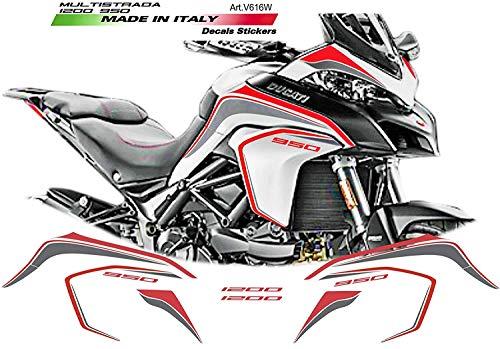 Pegatinas para Cupolino Ducati Multistrada 1200/2015//16//17/rojo